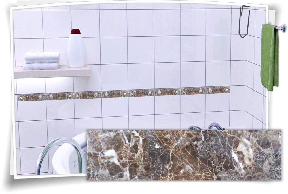 Fliesen Aufkleber Fliesen Bordure Granit Marmor Kachel Aufkleber Stein Deko Bad Ebay