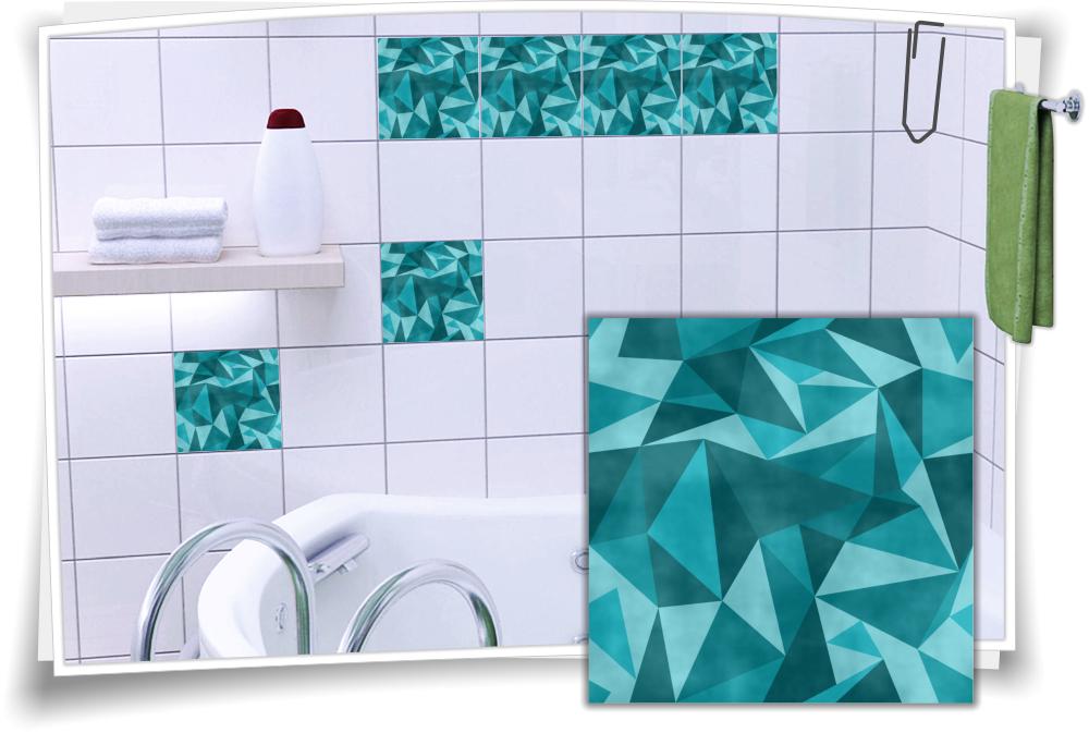 Fliesenaufkleber Mosaik Turkis Medianlux Shop