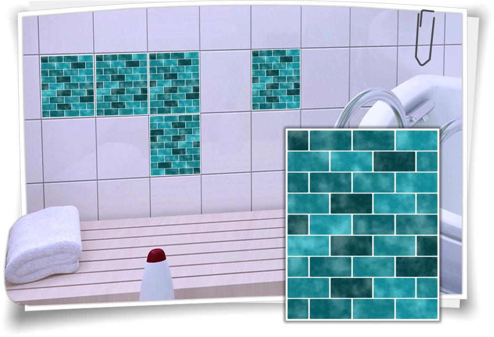 fliesenaufkleber mosaik t rkis medianlux shop. Black Bedroom Furniture Sets. Home Design Ideas