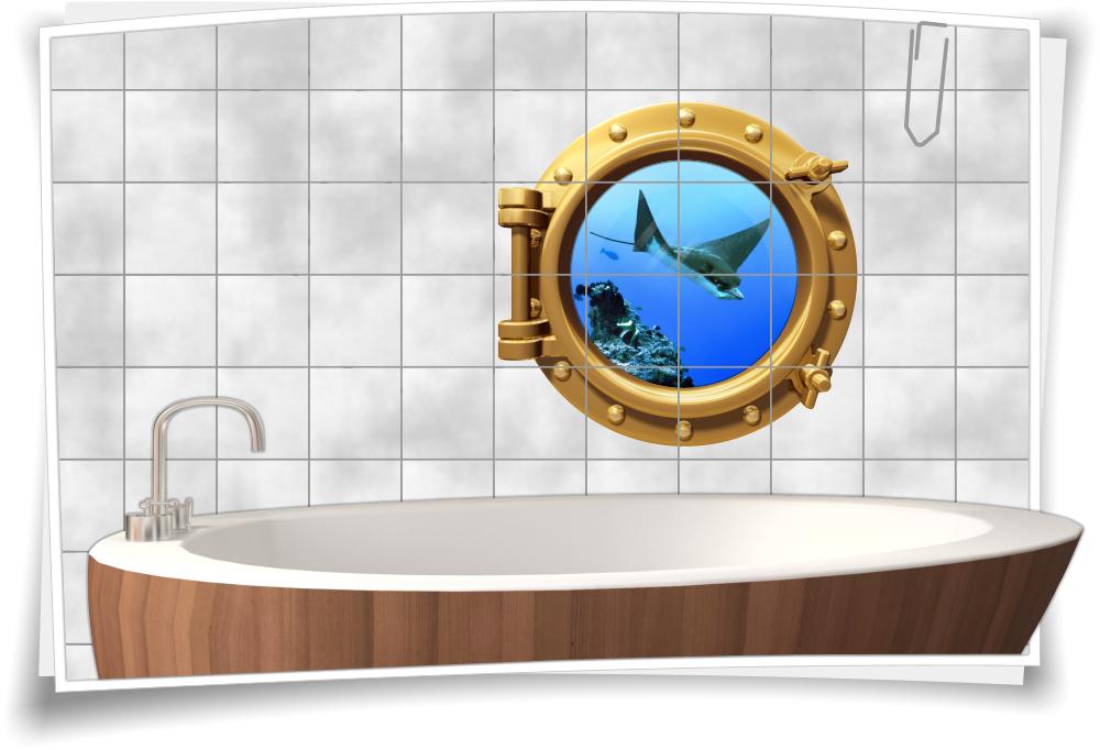 Mobel Wohnen Wandtattoo Wandsticker Fische Wandbild Badezimmer Aquarium Meer Meerestiere Z2 Bluecats Com