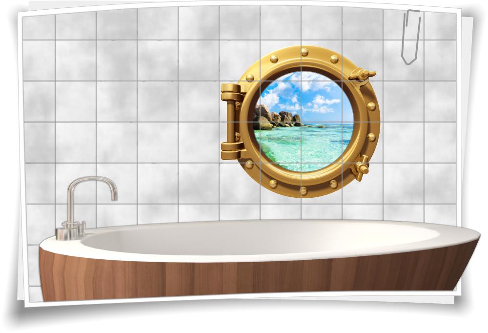 Fliesenaufkleber Badezimmer.Bullauge Fliesen Fliesenaufkleber Badezimmer Wasser