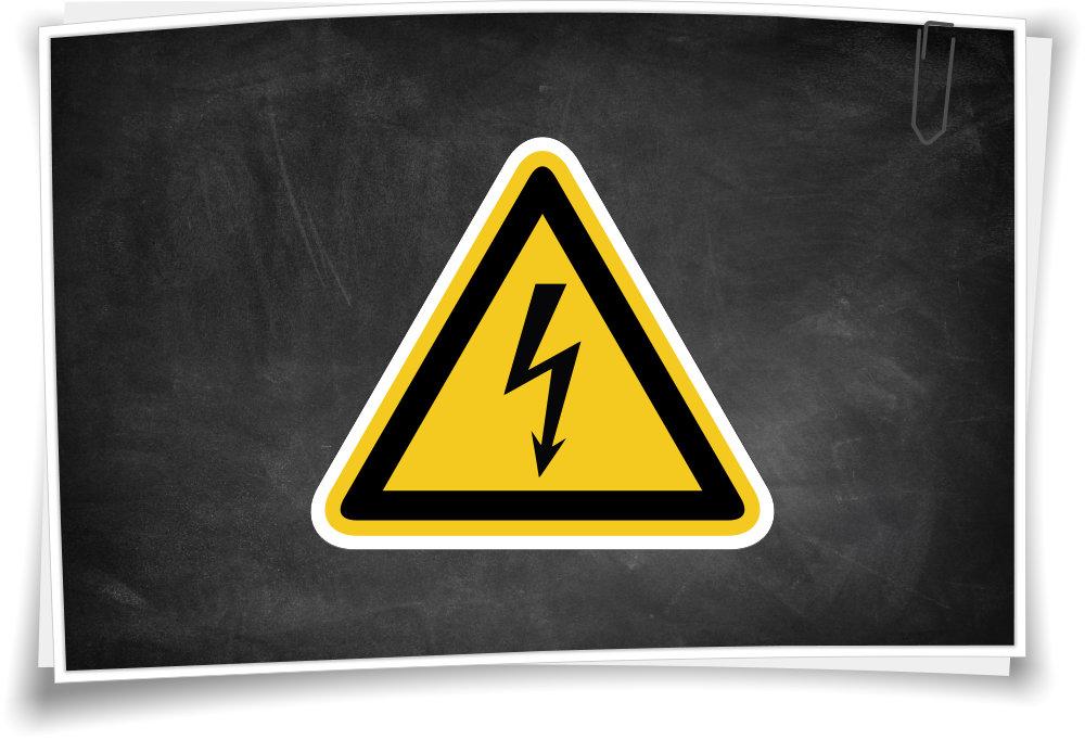 Warnhinweis W012 Warnung vor elektrischer Spannung – Medianlux-Shop