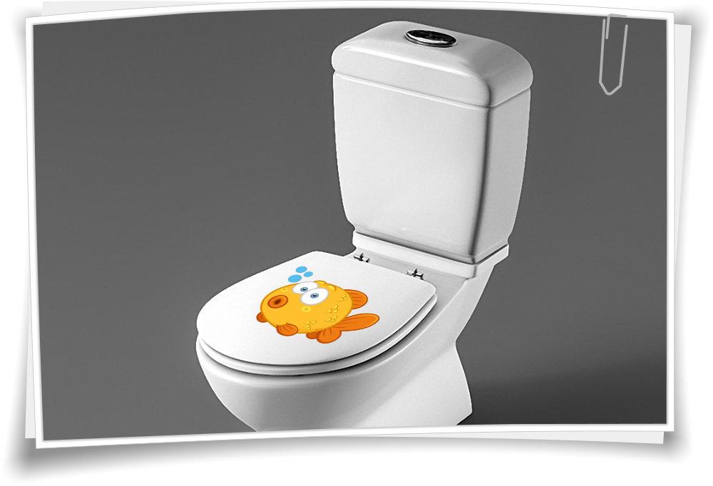 Motiv Koi Aufkleber f/ür Toilettensitz Klodeckel Aufkleber WC Sitz Aufkleber