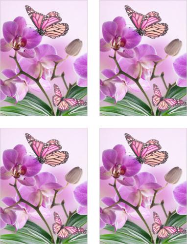 Fliesenaufkleber Fliesenbild Blumen Orchidee SPA Wellness Schmetterling Deko Bad