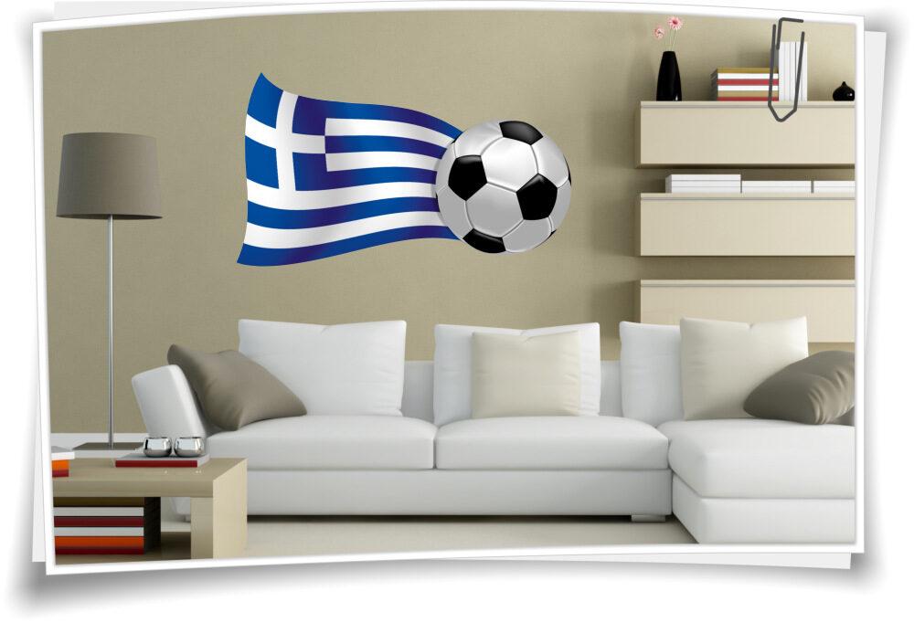 Griechenland Wandbild Wandtattoo Flagge Fahne Fussball Sport Em Wm