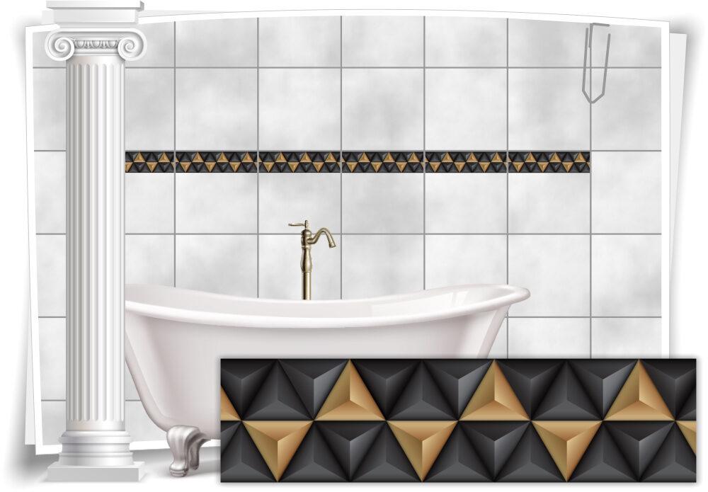Fliesenaufkleber Fliesen Aufkleber Mosaik Kachel Braun Bad WC Küche