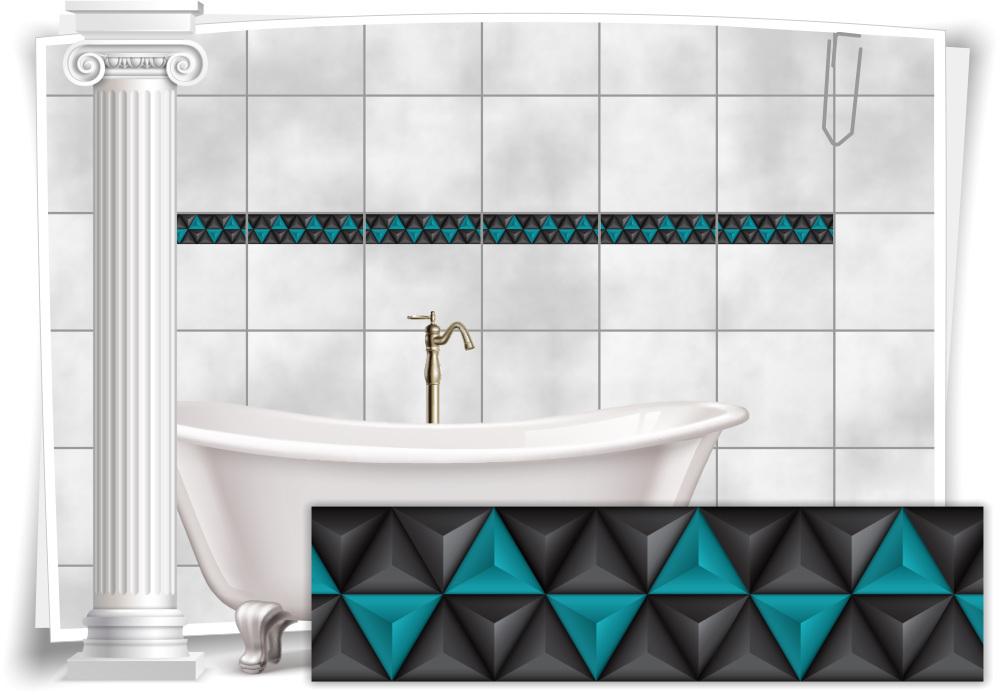 Fliesenaufkleber Fliesen Aufkleber Mosaik Kachel Türkis