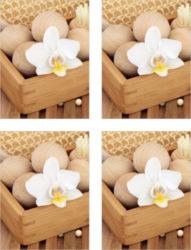 Fliesenaufkleber Fliesenbild Orchidee Blute Holz Wellness Spa