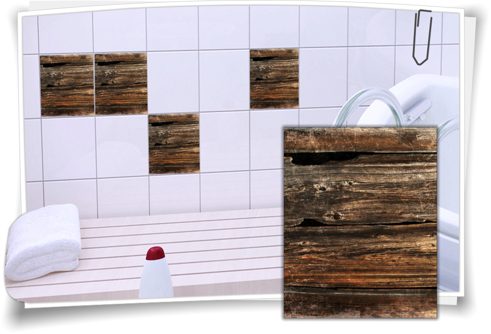 fliesenaufkleber fliesen aufkleber baum holz bad k che wc medianlux shop. Black Bedroom Furniture Sets. Home Design Ideas