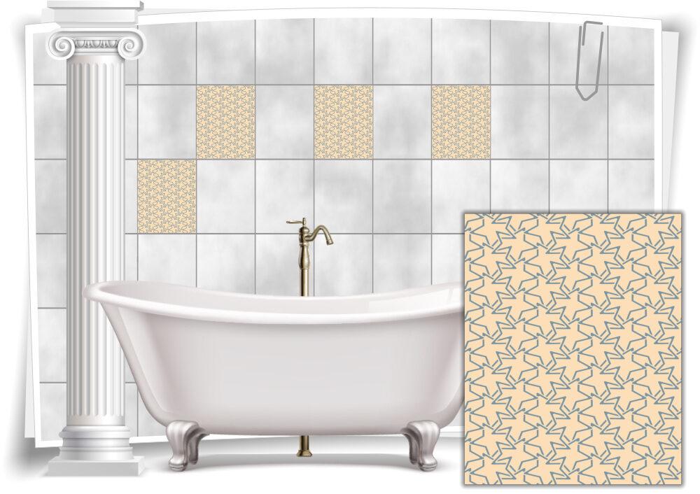 Möbel U0026 Wohnen Fliesenaufkleber Fliesen Aufkleber Vintage Nostalgie Retro  Alt Küche Bad WC Deko Kacheldekore