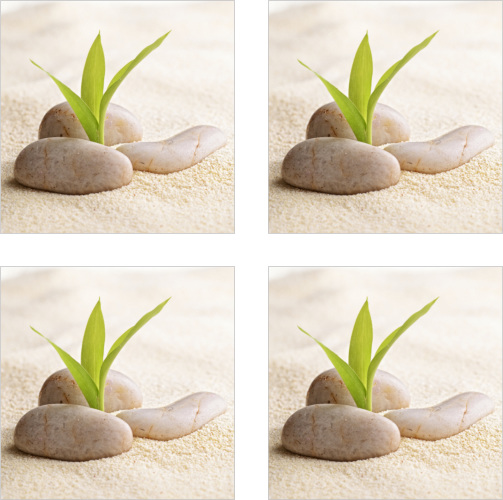 Fliesenaufkleber Fliesenbild ZEN Steine Sand Wellness SPA Aufkleber Fliesen Bad