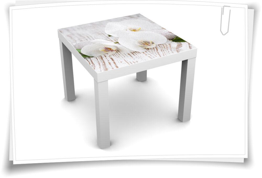 55x55cm Tischaufkleber Tisch Aufkleber Lack Couch Sofa Möbelfolie Kerzen Blumen Steine Spa Wellness