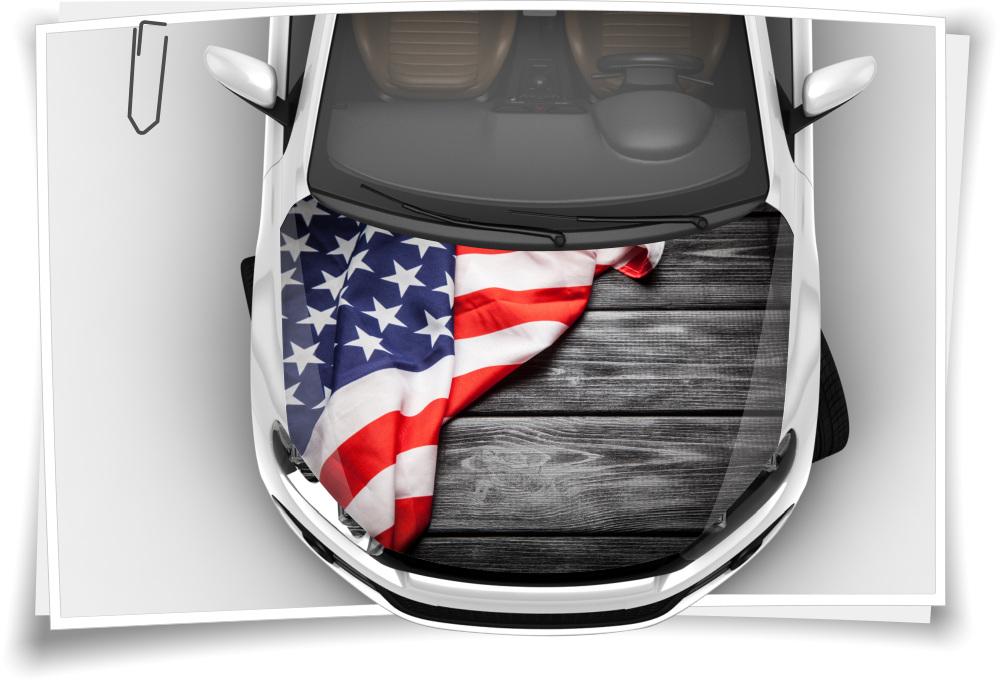 Amerika Usa Flagge Motorhaube Auto Aufkleber Steinschlag Schutz Folie Airbrush Tuning