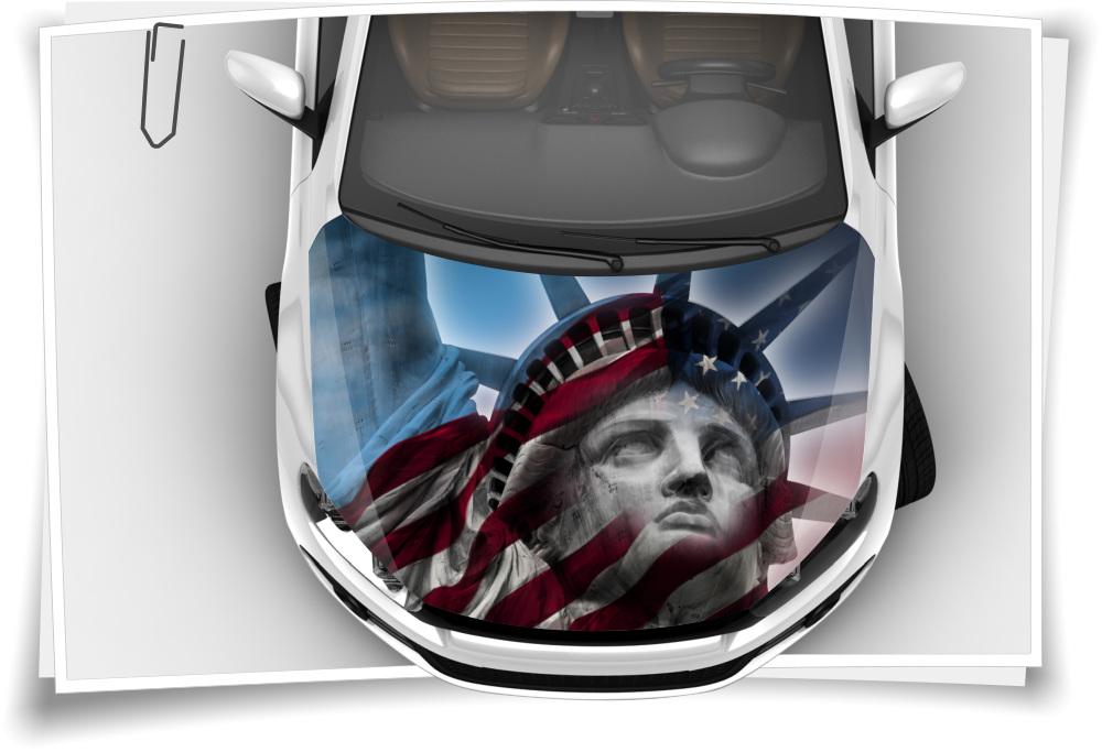 Amerika Usa Freiheits Statue Liberty Flagge Motorhaube Auto Aufkleber Steinschlag Schutz Folie Airbrush Tuning
