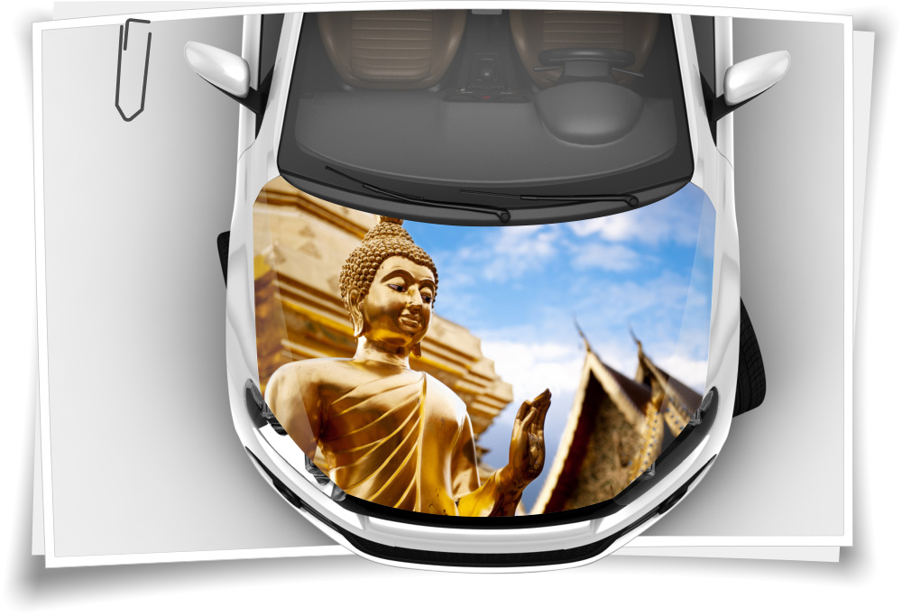 Buddha Tempel Ruinen Motorhaube Auto Aufkleber Steinschlag Schutz Folie Airbrush Tuning