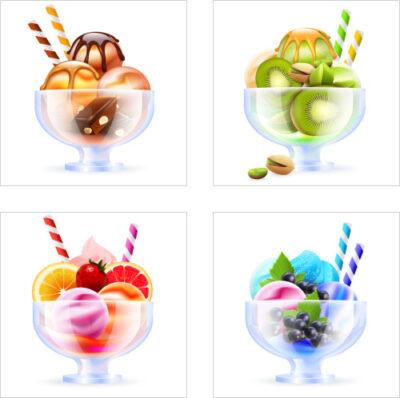 Fliesenaufkleber Eis Früchte Obst Aufkleber Fliesen Kachel Dekor Küche Bad WC
