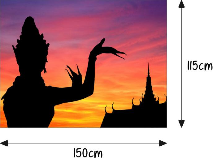 Thailand Tempel Buddha Motorhaube Auto Aufkleber Steinschlag Schutz Folie Airbrush Tuning