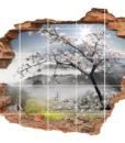 3D Fliesen-Aufkleber Fliesen-Bild blühen romantisch Harmonie