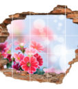 Fliesen-Aufkleber Fliesen-Bilds Wand-Durchbruch Blumen-Strauß Harmonie Glück Lebens-Freude  Blumen-Strauß Harmonie Glück Lebens-Freude