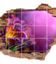 3D Fliesen-Aufkleber Fliesen-Bild Wand-Durchbruch Gladiolen Glück Lebens-Freude