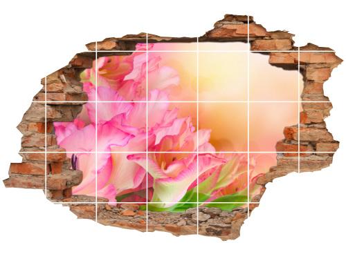 Fliesen-Tattoo Fliesen-Sticker Wand-Durchbruch Gladiolen Blumen-Strauß Harmonie Glück Lebens-Freude Deko Raum-Gestaltung