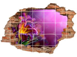 Fliesen-Tattoo Fliesen-Sticker Wand-Durchbruch Gladiolen Blumen-Strauß Harmonie Deko Raum-Gestaltung