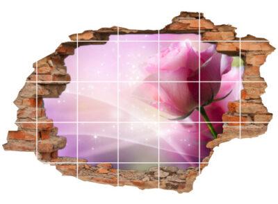 Fliesen-Tattoo Fliesen-Sticker Wand-Durchbruch Rose Blume Lebens-Freude Deko Raum-Gestaltung