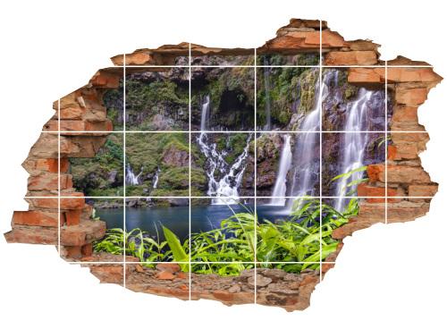 Fliesen-Aufkleber Wanddurchbruch Felsen-Landschaft Harmonie