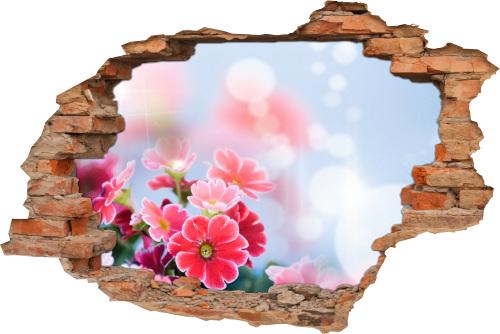 3D Wand-Aufkleber Wand-Bild Wand-Tattoo Wand-Sticker Wand-Durchbruch Wand-Durchbruch Blumen-Strauß Harmonie