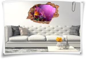 Wand-Tattoo Wand-Sticker Wand-Durchbruch Gladiolen Blumen-Strauß Harmonie Glück Lebens-Freude Deko Raum-Gestaltung Wand-Bild Wand-Tattoo Wand-Sticker Wand-Durchbruch Gladiolen Blume Lebens-Freude Deko Raum-Gestaltung