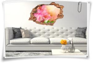 Wand-Tattoo Wand-Sticker Wand-Durchbruch Gladiolen Blumen-Strauß Harmonie Glück Lebens-Freude Deko Raum-Gestaltung