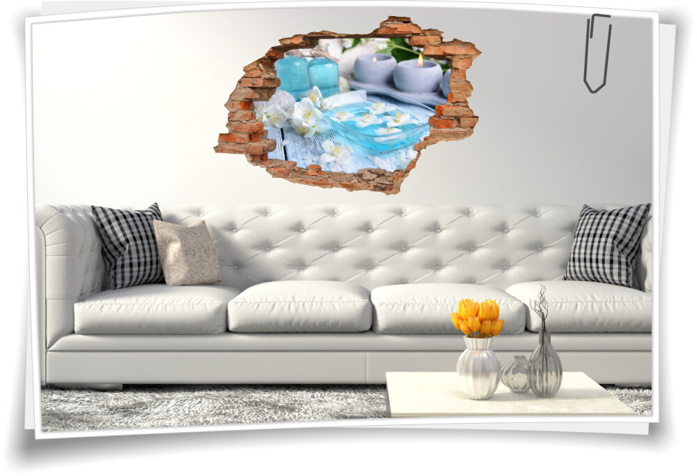Wand-Tattoo Wand-Sticker Wand-Durchbruch Meditation Harmonie Deko Raum-Gestaltung