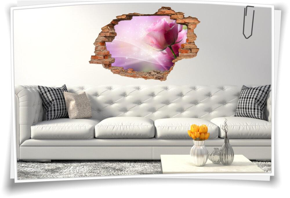 Wand-Tattoo Wand-Sticker Wand-Durchbruch Rosen Blumen-Strauß Glück Lebens-Freude Deko Raum-Gestaltung