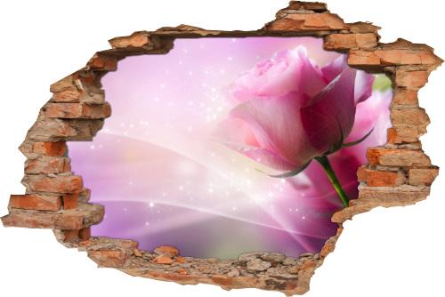 Wand-Tattoo Wand-Sticker Wand-Durchbruch Rosen Blume Harmonie Glück Lebens-Freude Deko Raum-Gestaltung