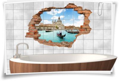 3D-Fliesen-Bild-er italienisch-e motive Deko Fliesen-Tattoo Venedig