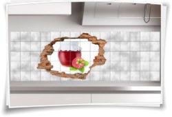 Fliesenaufkleber Fliesenbild Aufkleber Wanddurchbruch Marmelade