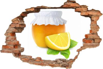 3D Wanddurchbruch Aufkleber Marmelade Orange Zitrone für Küche