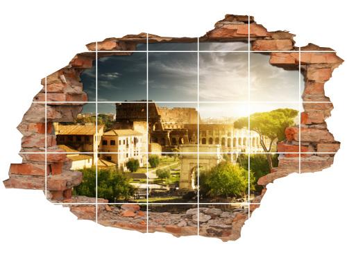 Fliesen-Aufkleber-3D Fliesen-Bild-er antike Deko Idee Amphitheater Italien