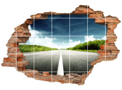 Fliesen-Aufkleber-3D Fliesen-Bild-er Auto-Tour Auto-Fahrt Highway Road