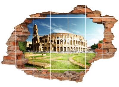 Fliesen-Aufkleber-3D Fliesen-Bild-er Architektur Colosseum Rom Italien