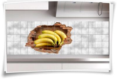Fliesen-Tattoo Esszimmer Bananen Ernährung gesund