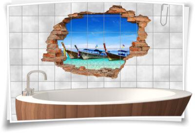 Boot-s-Fahrt Asien-Reisen azur-blau Sand Meer Wolken Urlaub
