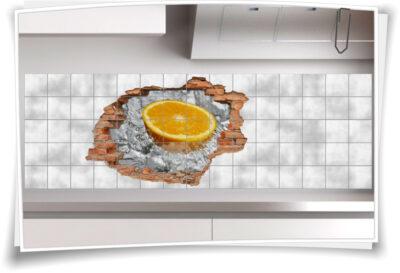Orange-n gesund-e Ernährung Küchen-Deko Wasser-Quelle