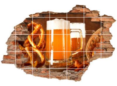 Fliesen-Aufkleber-3D Fliesen-Bild Oktober-Fest bayerische Küche Bayern