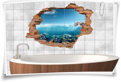liesen-Tattoo Wand-Durchbruch maritime Bade-Zimmer Deko-Ideen Meer