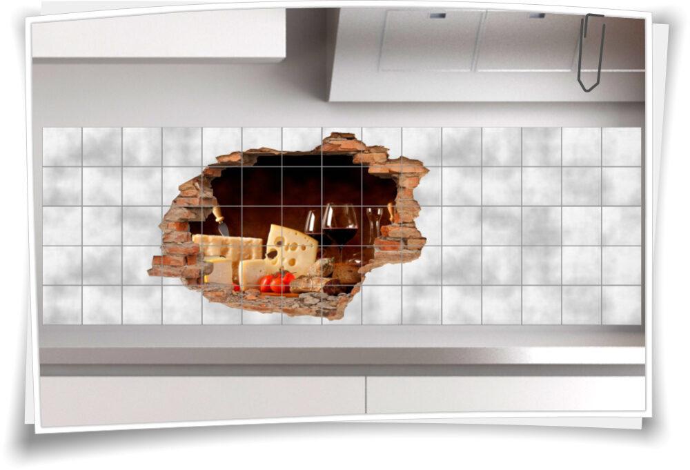 Fliesen-Aufkleber Küche Fliesen-Bilder Rot-Wein-Glas