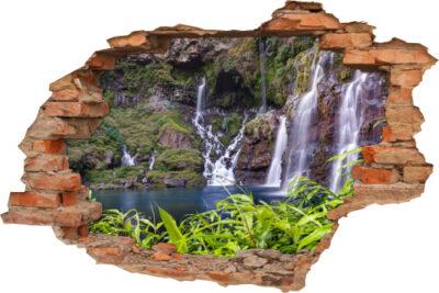 3D Wand-Aufkleber Wand-Durchbruch Felsen-Landschaft