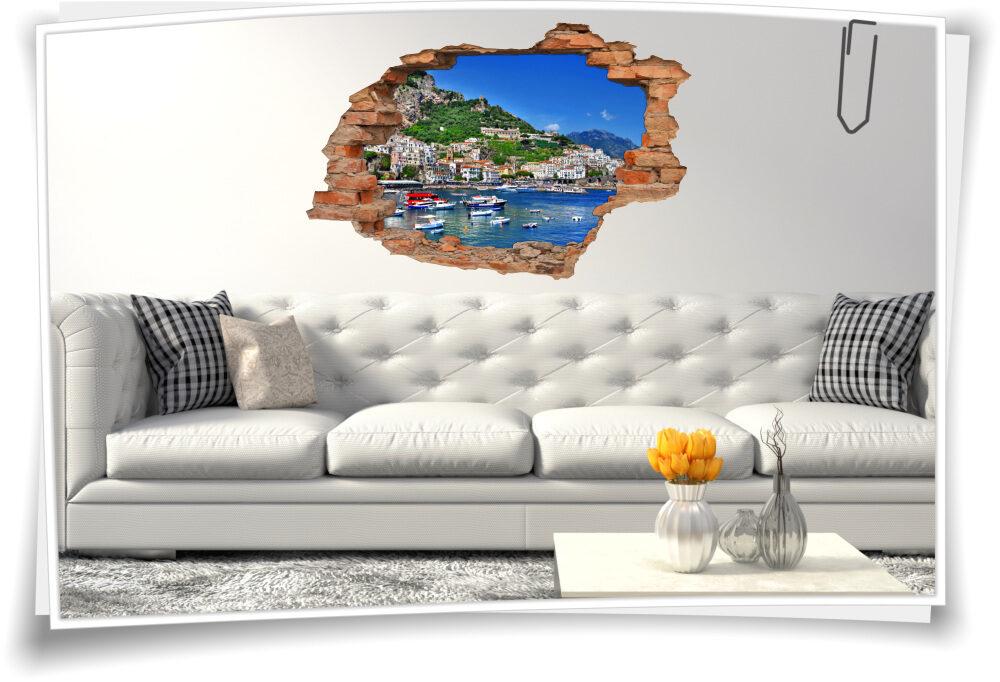 Wand-Bild-er Wohnzimmer italienisch Deko Wand-Tattoo 3D