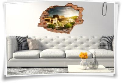Wand-Bild Wand-Durchbruch Deko Ideen italienischer Abend Amphitheater Italien