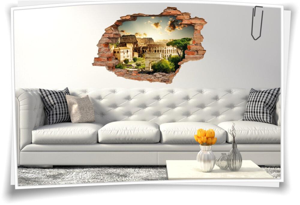 Wandtattoo italienisches Wohn-Zimmer Deko Italien Reise-n